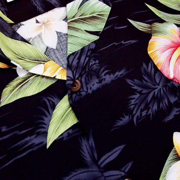 Black Anthurium Dream Hawaiian Rayon Shirt - Mens Shirts