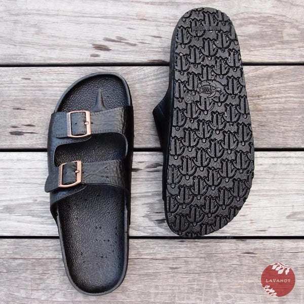 Black Buckle - Pali Hawaii Sandals - Hawaiian Sandals
