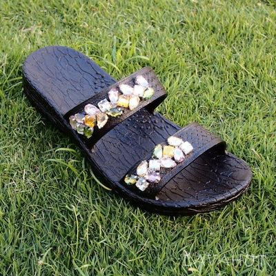 Black Jane Dazzle Jandals® - Pali Hawaii - Hawaiian Sandals