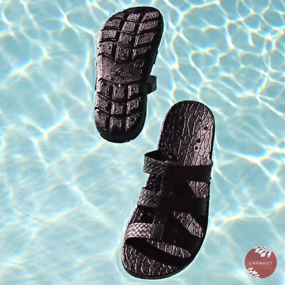 Black Jaya Jandals® - Pali Hawaii - Hawaiian Sandals