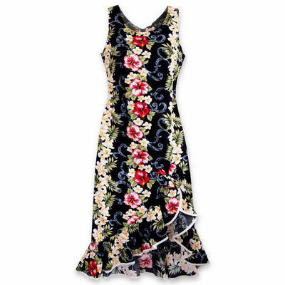 Black Mist Naniloa Hawaiian Dress - S / Black - Womens Dress