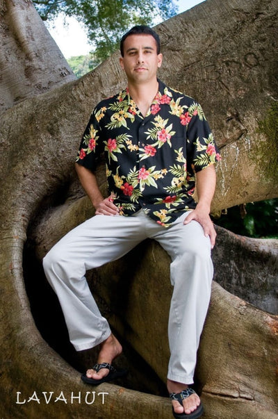 Blacksand Hawaiian Rayon Shirt - Men's Shirts