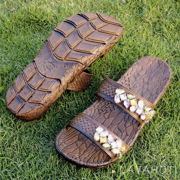 Brown Jane Dazzle Jandals® - Pali Hawaii - Hawaiian Sandals
