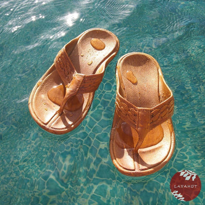 Brown Shaka - Pali Hawaii Thong Sandals - Hawaiian Sandals