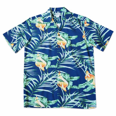 Calla Blue Hawaiian Rayon Shirt - Men's Shirts