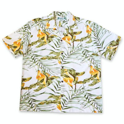 Calla White Hawaiian Rayon Shirt - Xs / White - Mens Shirts