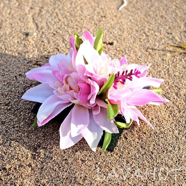 Chrysanthemum Pink Hawaiian Flower Hair Clip - Hair Accessories