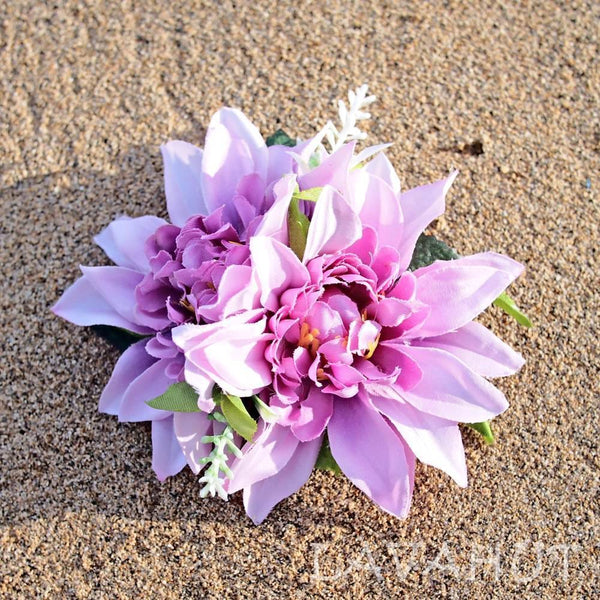 Chrysanthemum Purple Hawaiian Flower Hair Clip - Hair Accessories