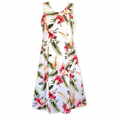 Cloud Cream Darling Hawaiian Midi Dress - Womens Dress