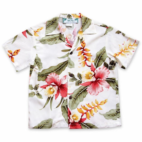 Cloud Cream Hawaiian Boy Shirt - Boys Hawaiian Shirts