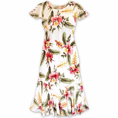Cloud Cream Malia Hawaiian Dress - S / Cream - Womens Dress