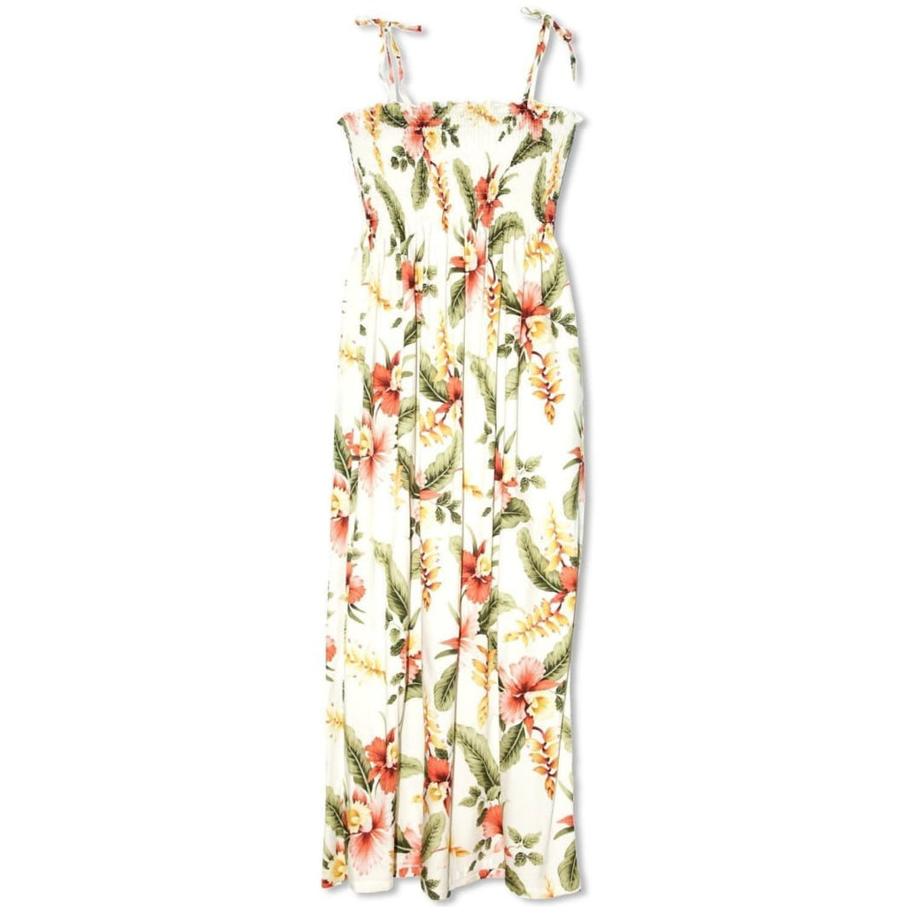 Cloud Cream Maxi Hawaiian Dress - Womens Dress