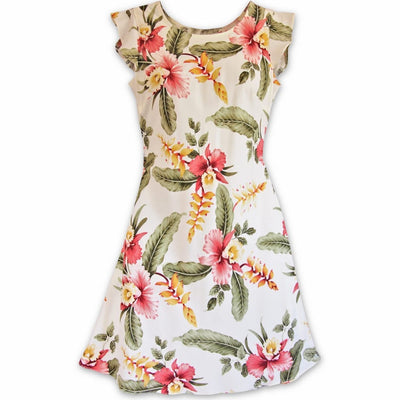 Cloud Cream Xoxo Hawaiian Dress - Women's Dress