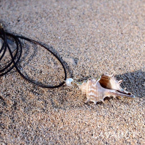 Conch Seashell Hawaiian Pendant Necklace - Necklaces