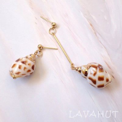 Conch Shell Drop Earrings - Cream - Earrings