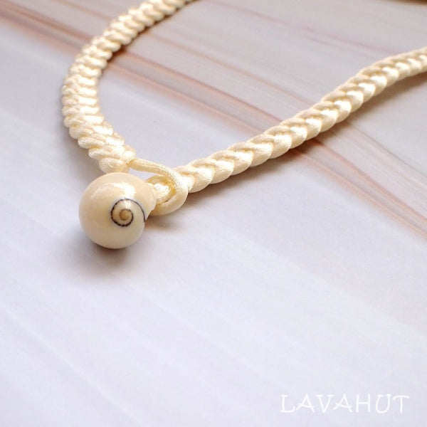 Cream Monstera Leaf Mother Of Pearl Hawaiian Necklace - Necklaces