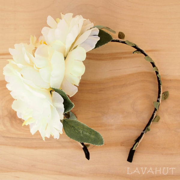 Cream Wild Child Flower Headband - Hair Accessories
