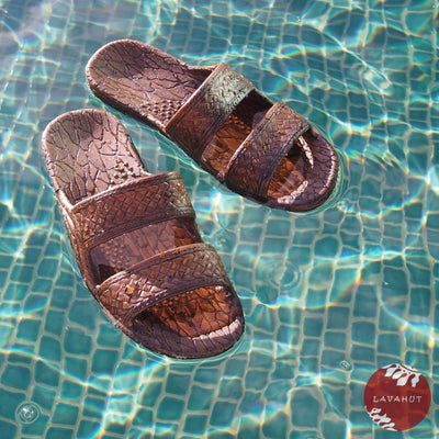 Dark Brown Classic Jandals® - Pali Hawaii Sandals - 5 / Dark Brown - Hawaiian Sandals
