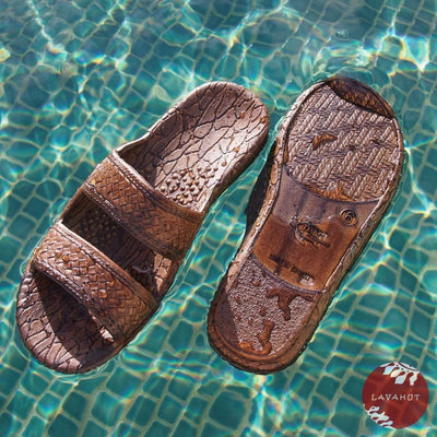 Dark Brown Classic Jandals® - Pali Hawaii Sandals - Hawaiian Sandals