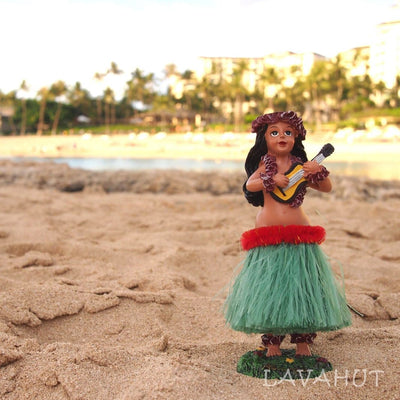 Dashboard Hawaiian Hula Girl Doll - Souvenir