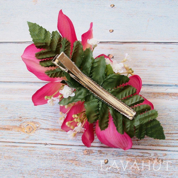 Dreamy Cymbidium Pink Hawaiian Flower Hair Clip - Hair Accessories