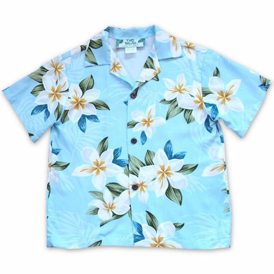 Escape Blue Hawaiian Boy Shirt - 2 / Blue - Boy's Hawaiian Shirts