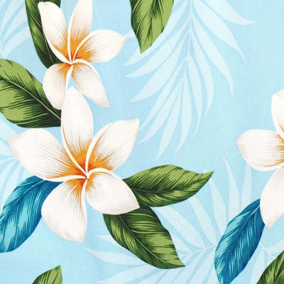 Escape Blue Hawaiian Rayon Fabric by the Yard - Blue - Fabric