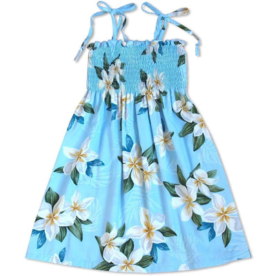 Escape Blue Sunkiss Hawaiian Girl Dress - S (2 - 4) / Blue - Girls Hawaiian Dresses