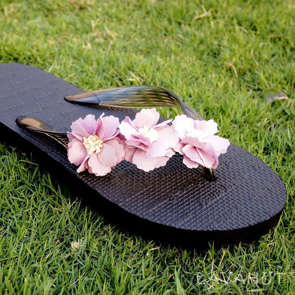 Flower Power Flip Flops - Hawaiian Sandals