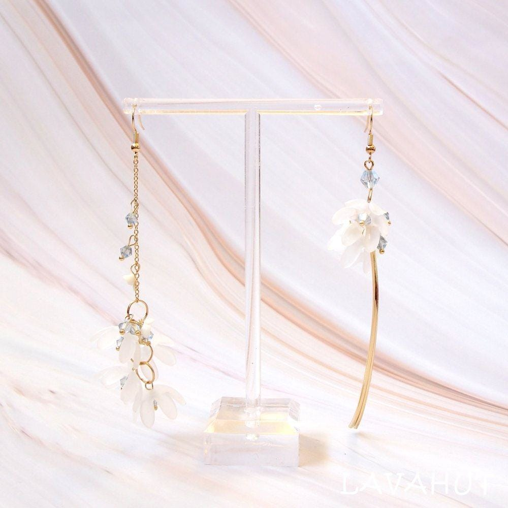Fresh Asymmetric Hook Earrings - White - Earrings