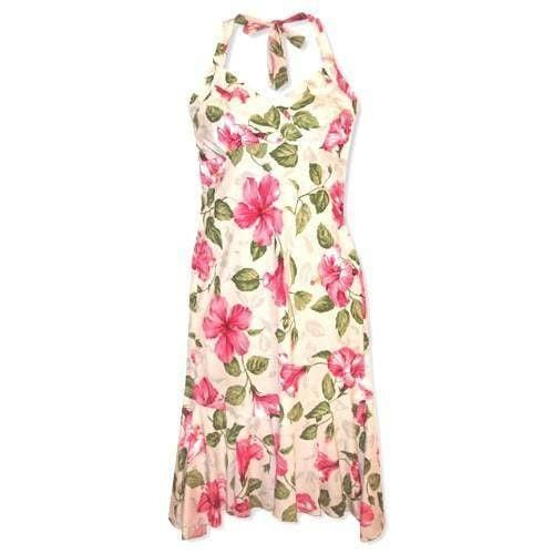 Garden White Akua Hawaiian Dress - Womens Dress