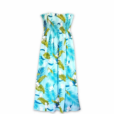 Ginger Breeze Aqua Maxi Hawaiian Dress - One Size / Aqua - Women's Dress