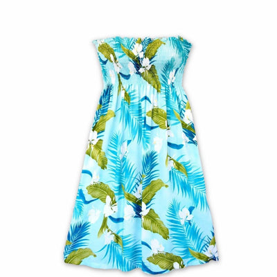Ginger Breeze Aqua Moonkiss Hawaiian Dress - One Size / Aqua - Women's Dress