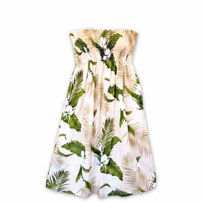 Ginger Breeze Cream Moonkiss Hawaiian Dress - One Size / Cream - Womens Dress