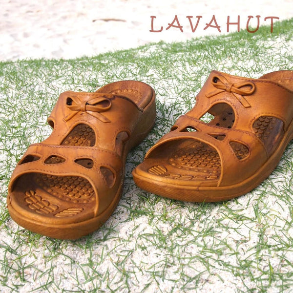 Golden Brown Bow - Pali Hawaii Sandals - Hawaiian Sandals