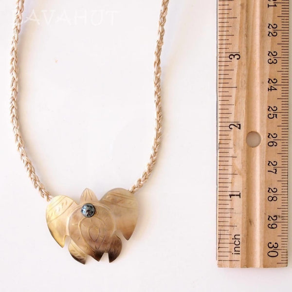 Golden Turtle Honu Mother Of Pearl Hawaiian Necklace - Necklaces