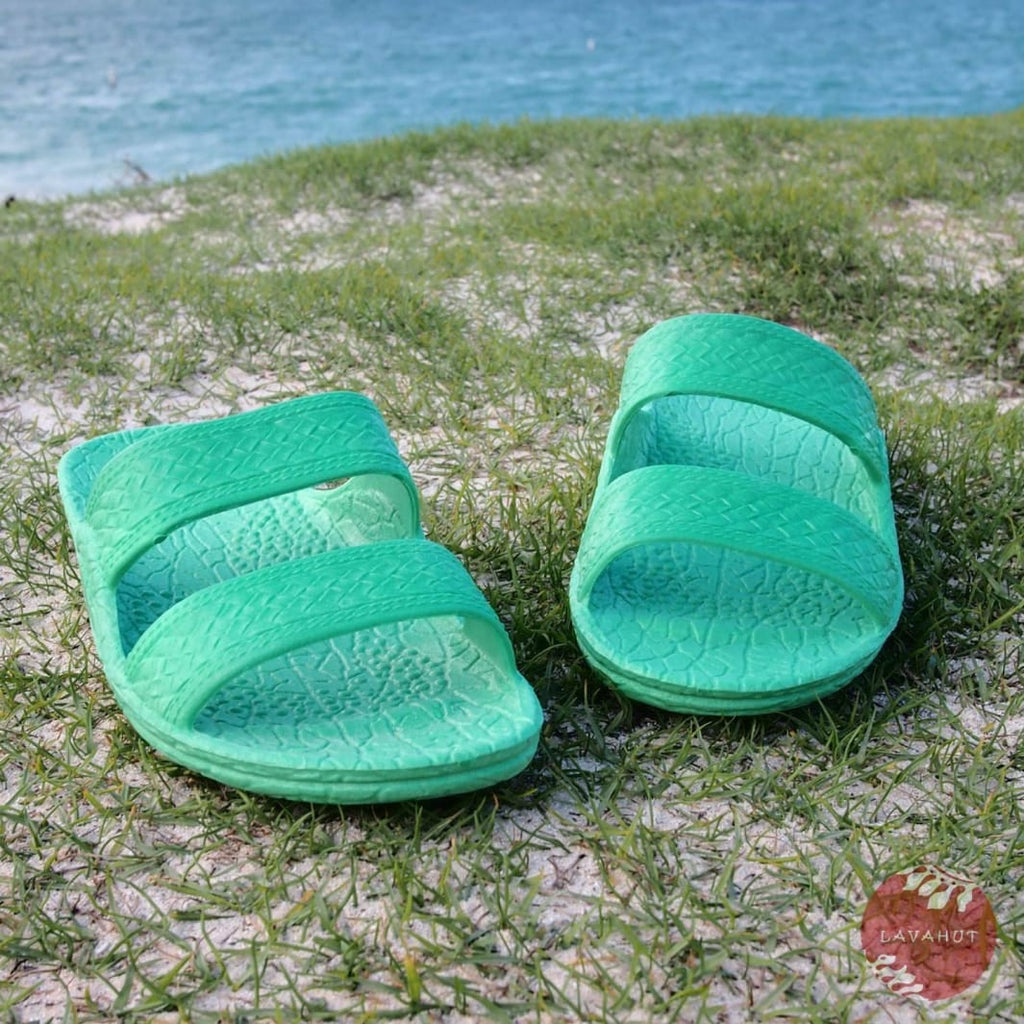 Green Classic Jandals® - Pali Hawaii Sandals - Hawaiian Sandals