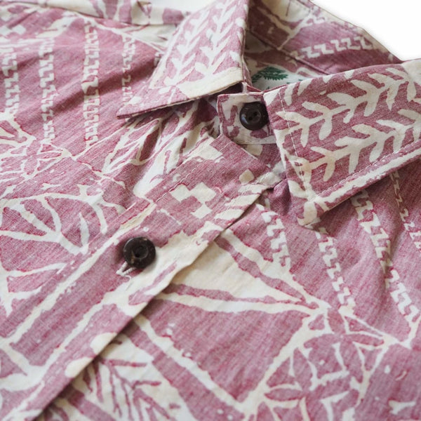 Haleiwa Red Hawaiian Reverse Shirt - Mens Shirts
