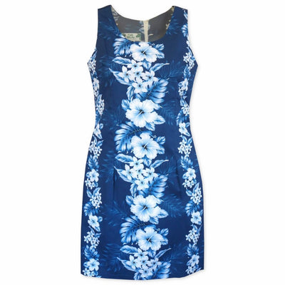 Hanalei Blue Short Hawaiian Tank Dress - Women's Dress