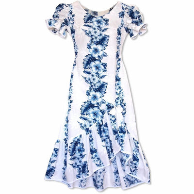 Hanalei White Makani Hawaiian Muumuu Dress - Womens Dress