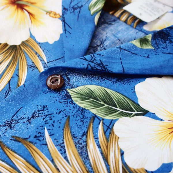 Hanauma Blue Hawaiian Cotton Shirt - Mens Shirts
