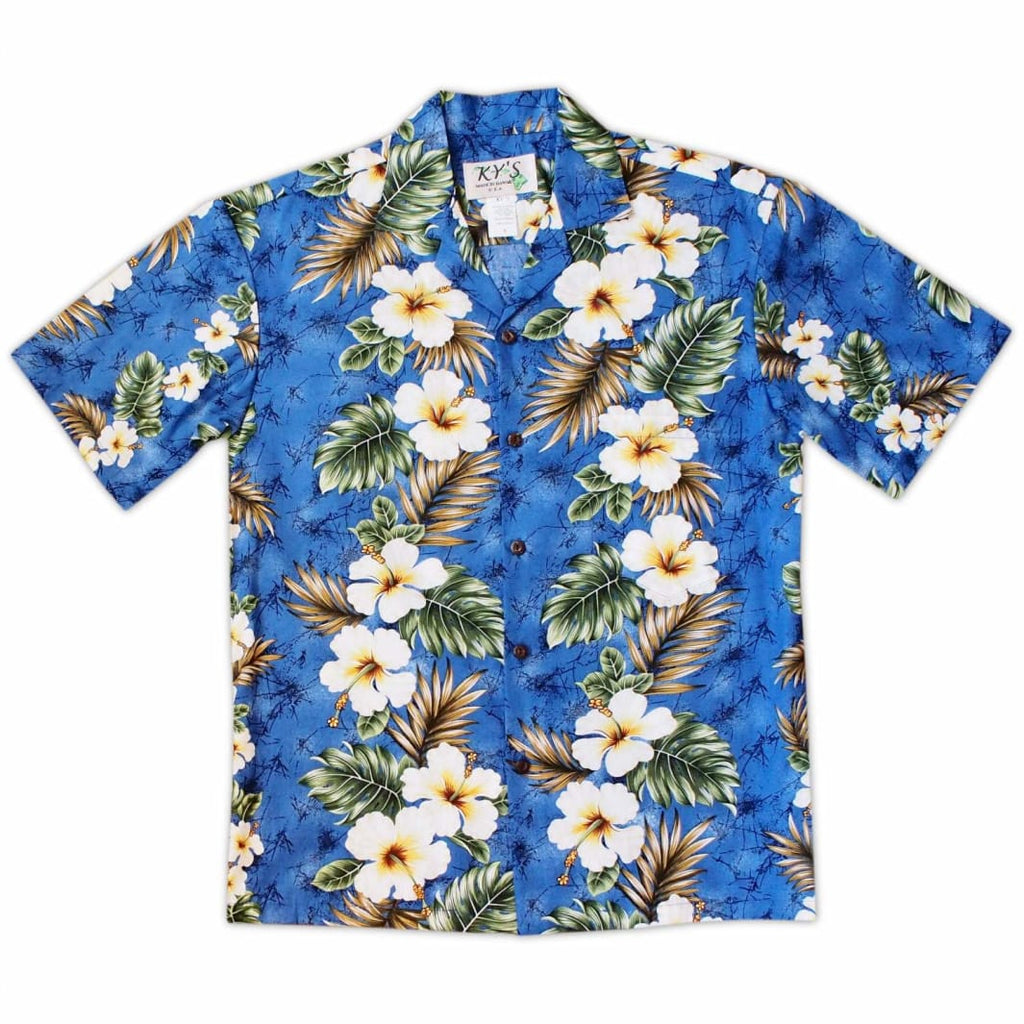 Hanauma Blue Hawaiian Cotton Shirt - S / Blue - Mens Shirts