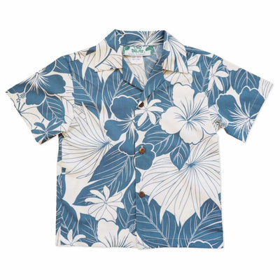Haven Blue Hawaiian Boy Shirt - 2 / Blue - Boy's Hawaiian Shirts