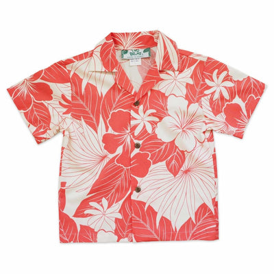 Haven Coral Hawaiian Boy Shirt - 1 / Coral - Boy's Hawaiian Shirts