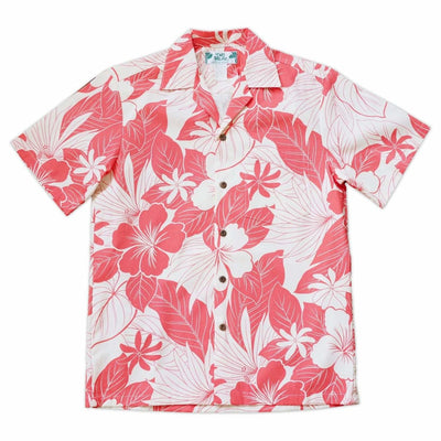 Haven Coral Hawaiian Cotton Shirt - s / Coral - Men's Shirts