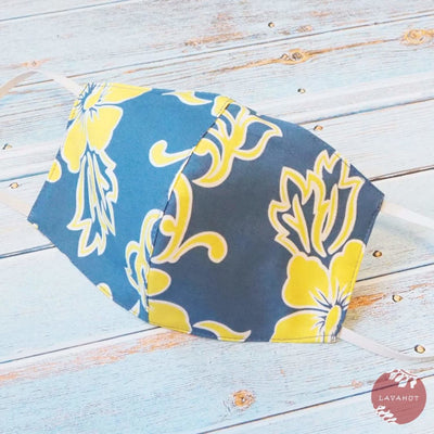Hawaiian Face Mask • Blue Hang Loose - Blue - Face Mask