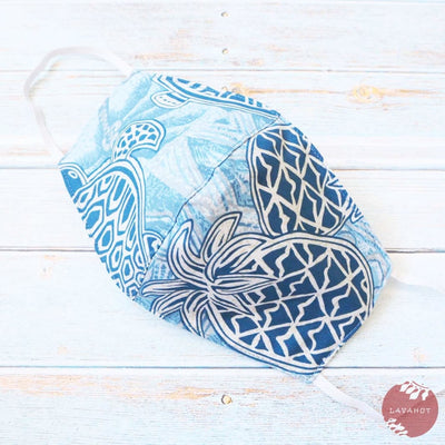 Hawaiian Face Mask • Blue Kaena - Blue - Face Mask