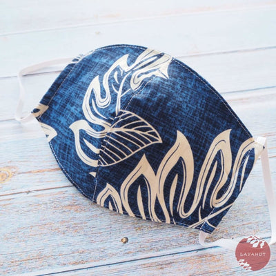 Hawaiian Face Mask • Blue Kaneohe - Blue - Face Mask