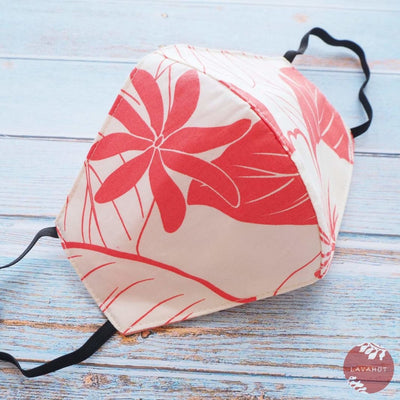 Hawaiian Face Mask • Coral Haven - Coral - Face Mask