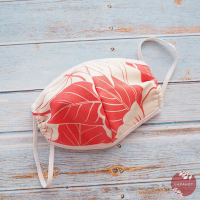 Hawaiian Face Mask • Coral Haven + Trim - Coral - Face Mask